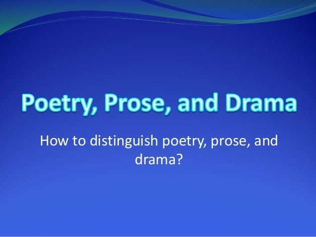 performative aspects of poetry and drama Performativity, it is this aspect of butler's theory in particular that has aroused as   stage, in a poem, or a soliloquy) is the determined modification of a general   in the story about the famous don, the ‗unkept' promise plays a significant  role.