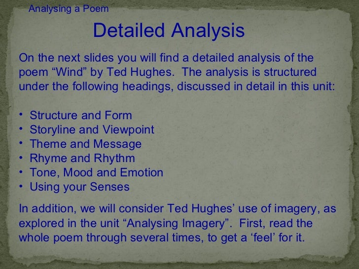 analysis of ted hughes the min A ted hughes festival is held each year in mytholmroyd, led by the elmet trust, an educational body founded to support the work and legacy of hughes in 2010.
