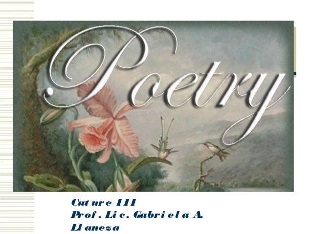 Language and Culture III Cut ure I I I Prof . Li c. Gabri el a A. Ll aneza