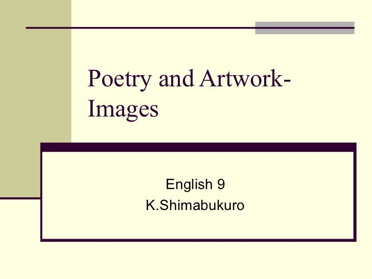 Poetry and artwork  images