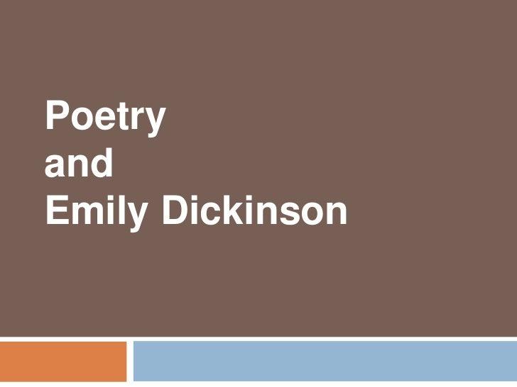 PoetryandEmily Dickinson