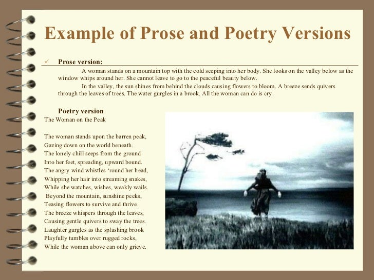 What are examples of prose?
