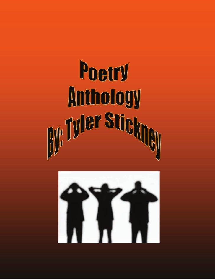 Poetry anthology stickney