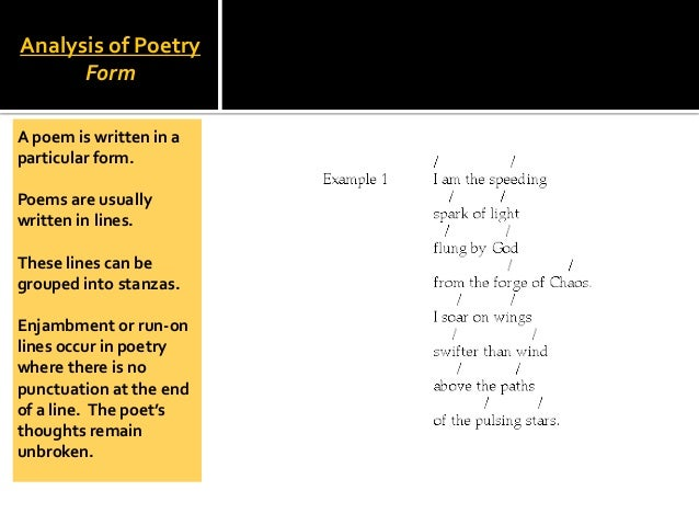 an introduction to the definition and an analysis of poetry Poetry analysis - a step-by-step internet workshop analyzing poetry if you are just beginning to delve into the world of poetry, you may initially feel overwhelmed by the occasional ambiguity and inaccessibility of this literary style.