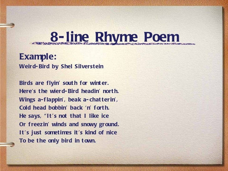 8 Line Rhyming Poem - Reocurent