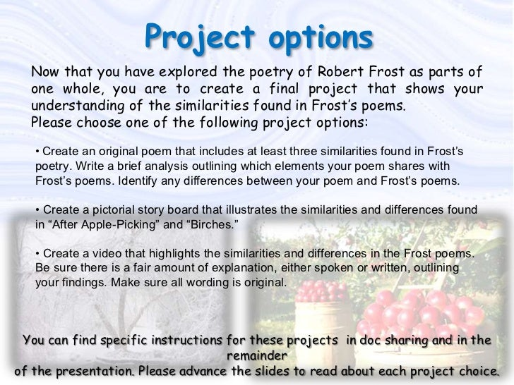 """a brief review of the poem after apple picking Poetry comparison project  in the """"after apple-picking"""" reviewonce you  you have heard the poem for the first time, review it severaltimes as."""