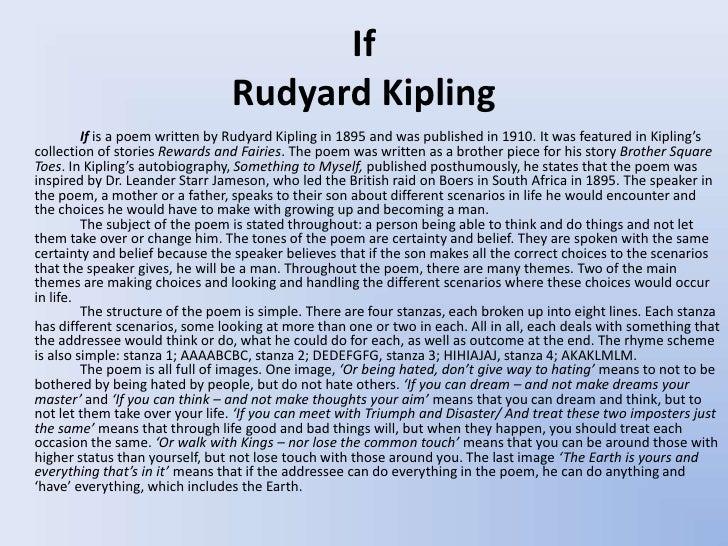 Rudyard Kipling nature poems