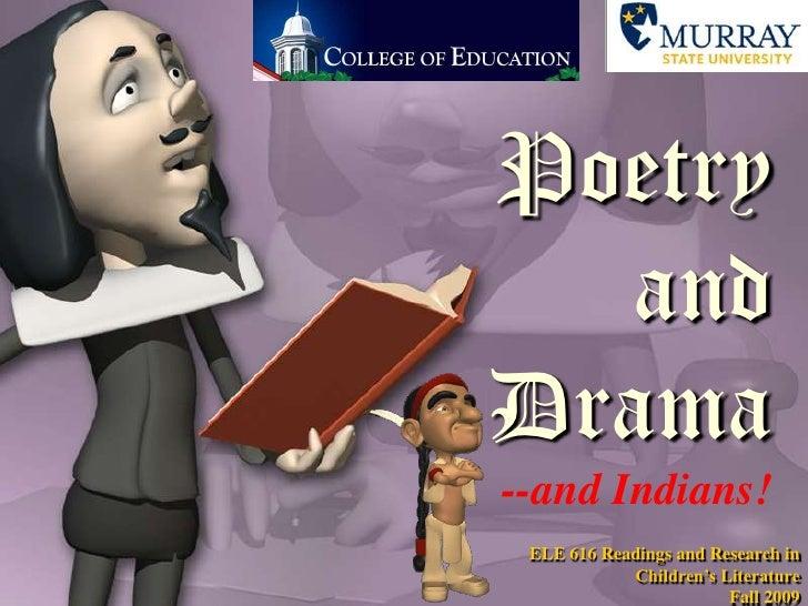 Poetry & Drama: 2007 version