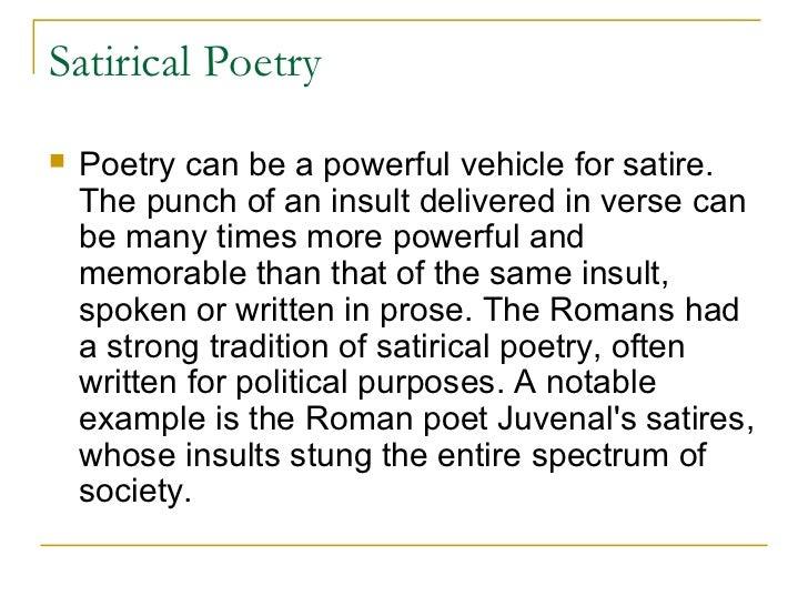 satirical writing