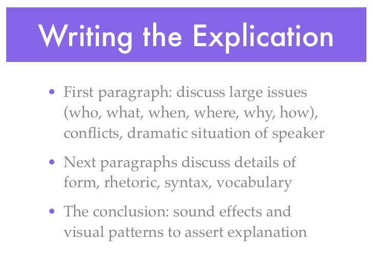 explication essays Guide how to write critical analysis essay every student knows pretty well what difficulties appear if he or she is to write a critical analysis essay.