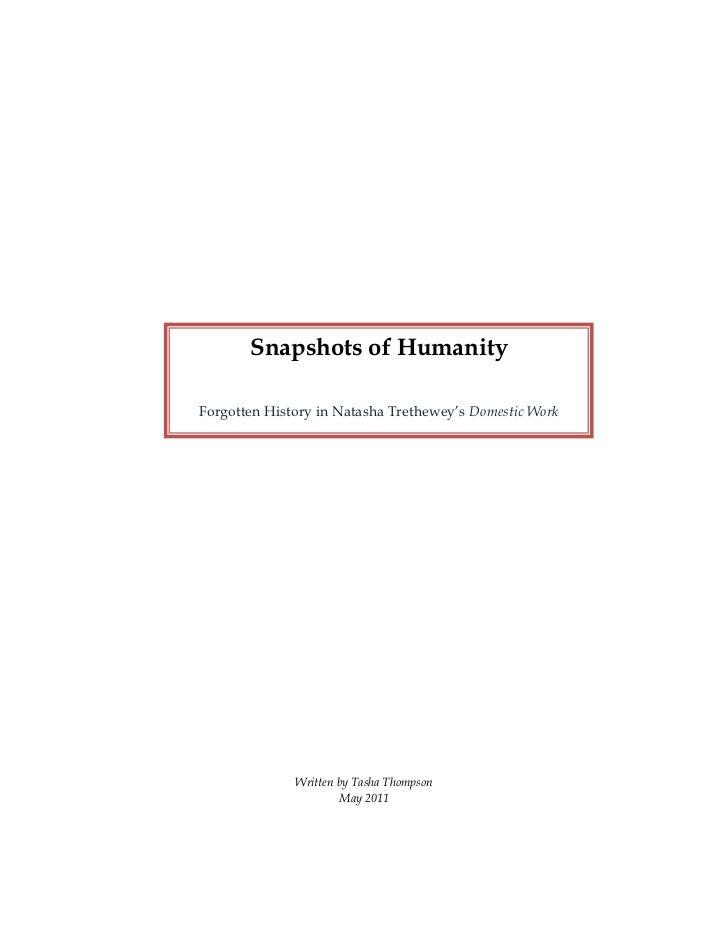 Snapshots of Humanity