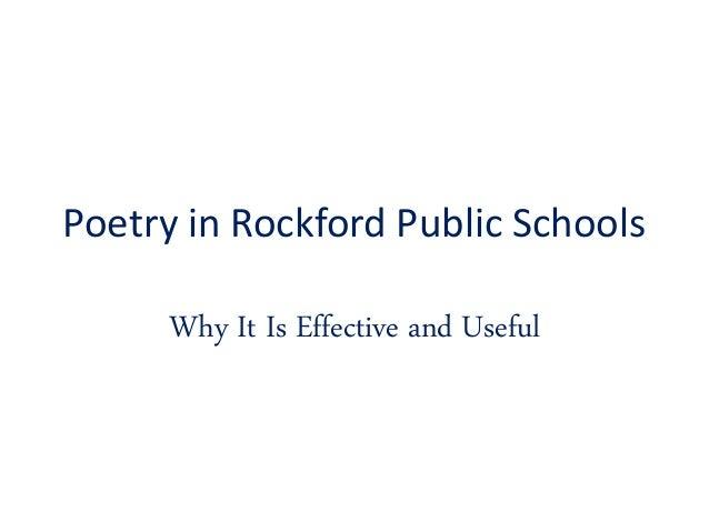 Poetry In Rockford Public Schools