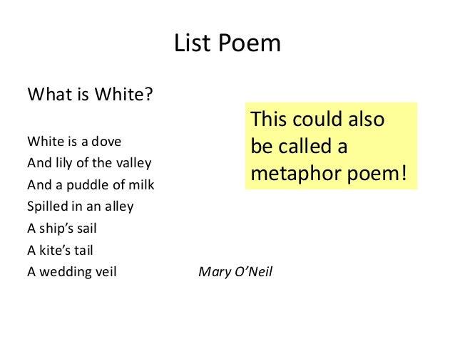 Gallery For gt Metaphor Poem Examples Kids