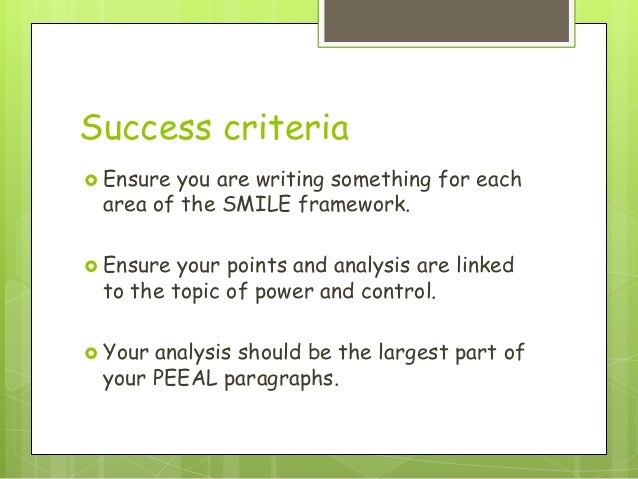 success criteria essay writing As long as what you write on the essay is your own work, formulating ideas and sharing notes is okay in fact, it is a big part of the learning process as an exam approaches, find out what you can about the form it will take.