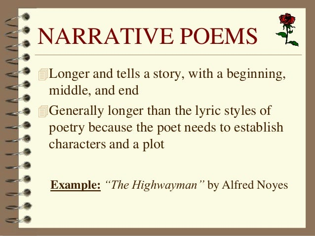 narrative poem examples - photo #12