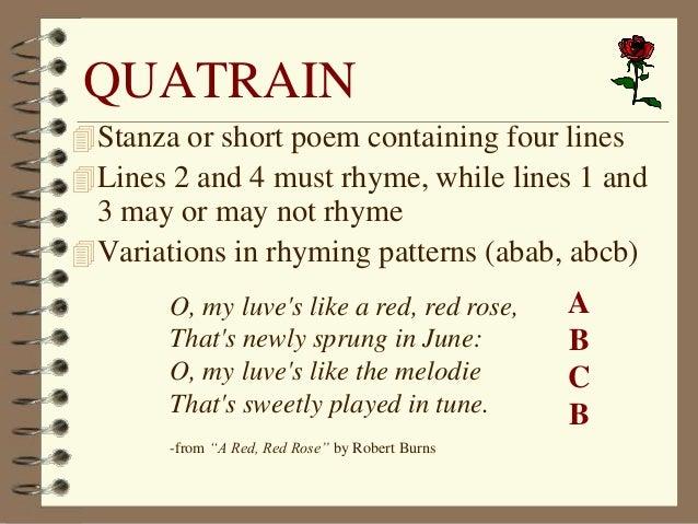 quatrain poems examples - photo #1