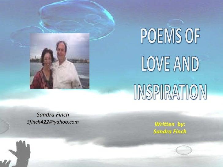 Written  by: Sandra Finch Sandra Finch [email_address]