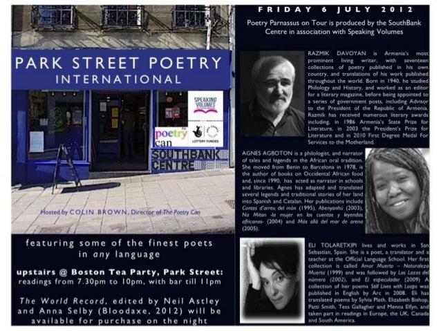 Poetry Parnassus at Park St. Poetry, Bristol