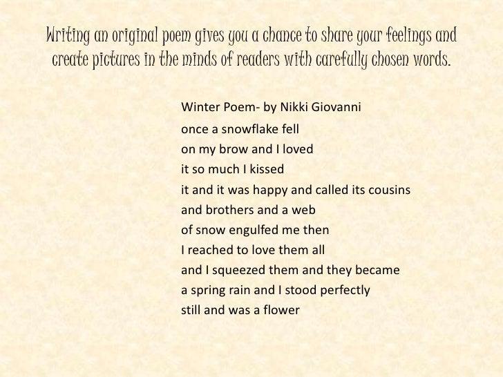 Winter poem by nikki giovanni