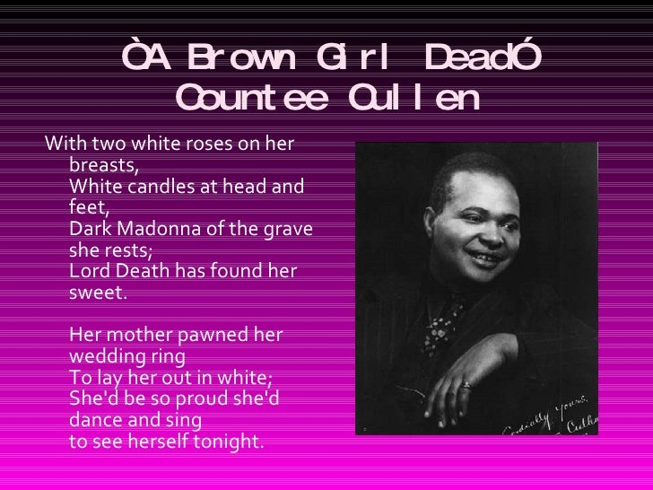 a literary analysis of tableau by countee cullen What it an analysis of the poem incident by countee cullen takes is an audio podcast on itunes produced by the literature an analysis of gender identity and.