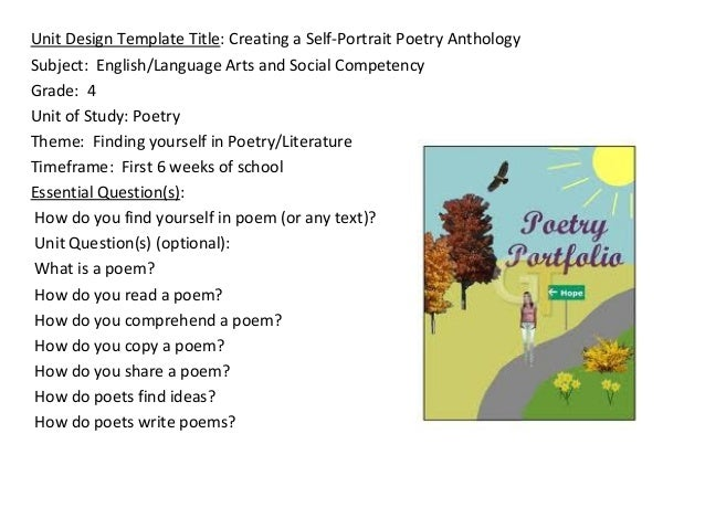 Poetry Anthology Project Poetry Anthology Subject