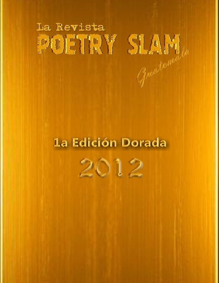 Poetry slam golden edition