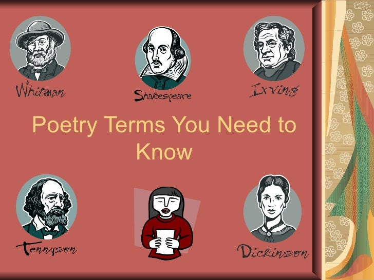 Poetry Terms You Need to Know