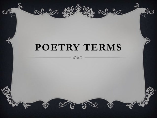 Poetry terms PP