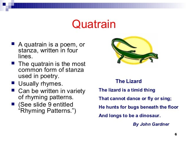 quatrain poems examples - photo #3