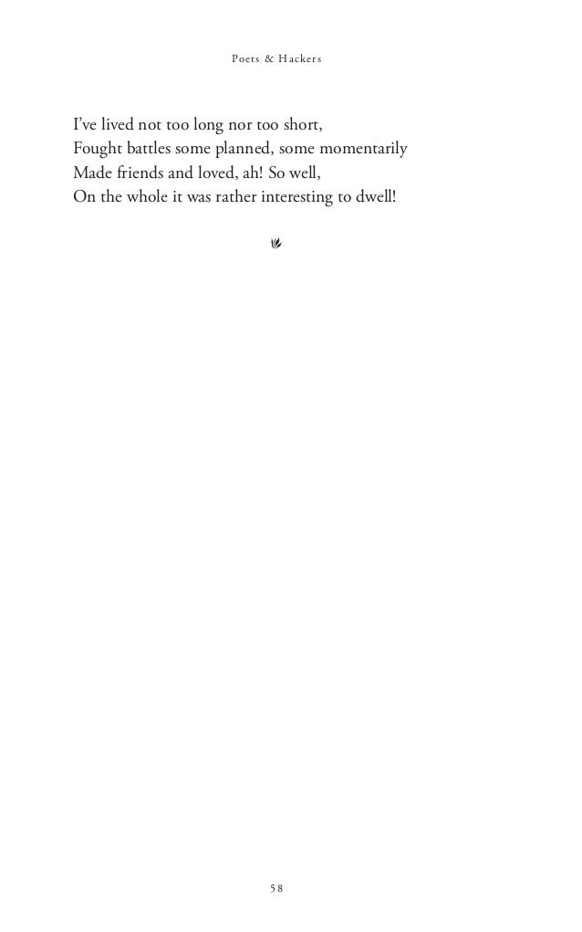 HELP! i wrote a poem and i need input?