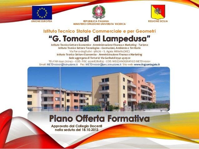 """ITCG """"G. Tomasi di Lampedusa"""" - POF 2013 - 2014"""