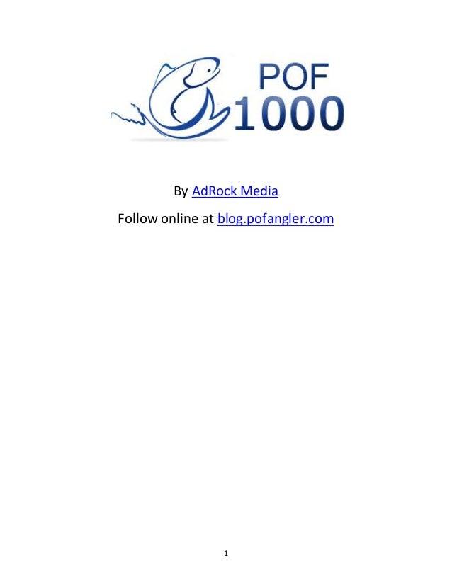 1By AdRock MediaFollow online at blog.pofangler.com