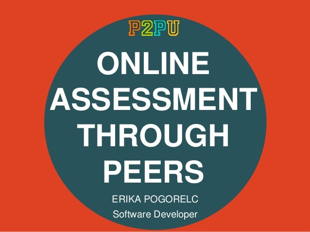 Online Assessment Through Peers