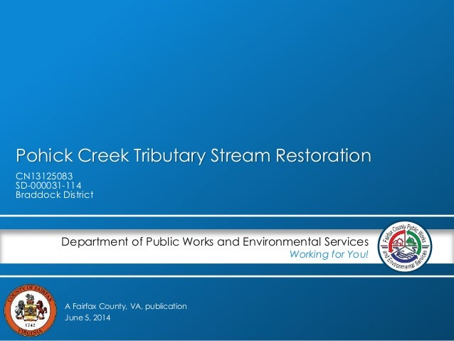 Pohick Creek Tributary Stream Restoration Project