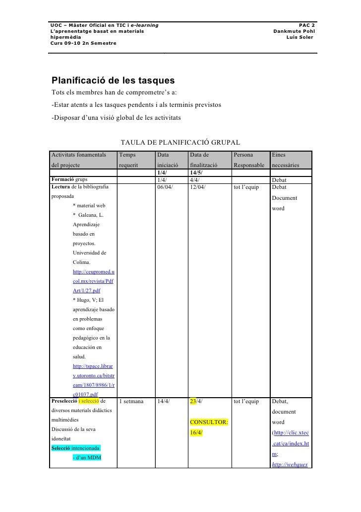 UOC – Màster Oficial en TIC i e-learning                                                         PAC 2 L'aprenentatge basa...