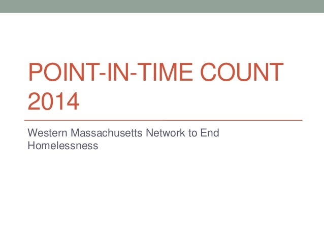 Point in-time count training 2014