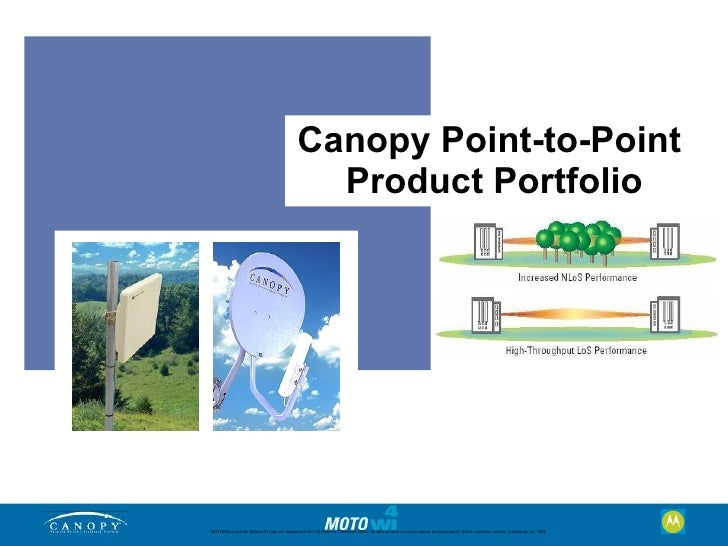 Canopy Point-to-Point                                                  Product Portfolio     MOTOROLA and the Stylized M L...