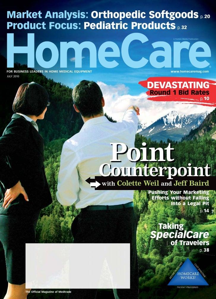 Market Analysis: Orthopedic Softgoods p. 20 Product Focus: Pediatric Products p. 32                                       ...