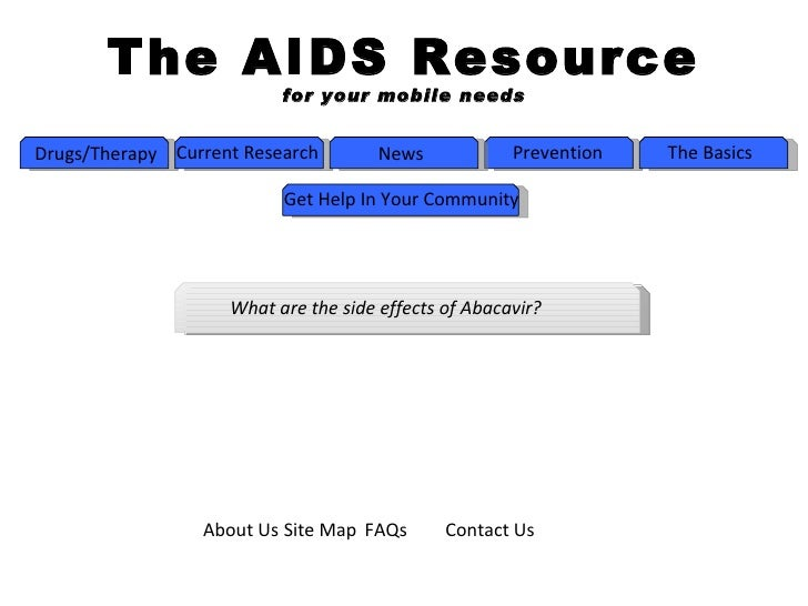 The AIDS Resource                          for your mobile needsDrugs/Therapy Current Research        News            Prev...