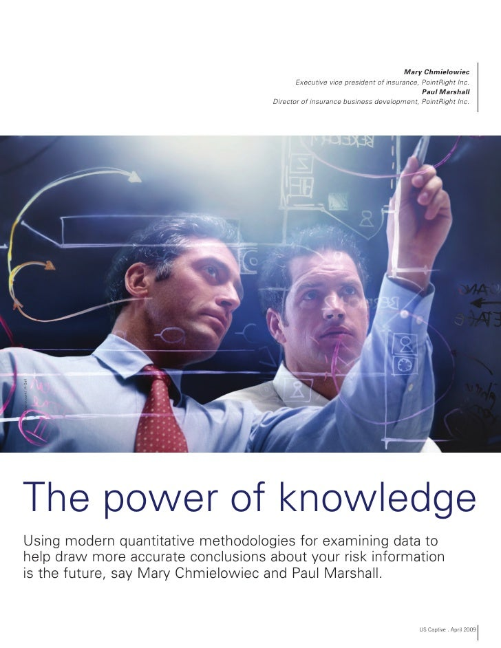 Healthcare Risk Analytics   Power Of Knowledge   Us Captive