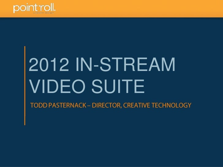 2012 IN-STREAMVIDEO SUITE                 1