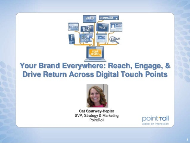 1 Your Brand Everywhere: Reach, Engage, & Drive Return Across Digital Touch Points Cat Spurway-Hepler SVP, Strategy & Mark...