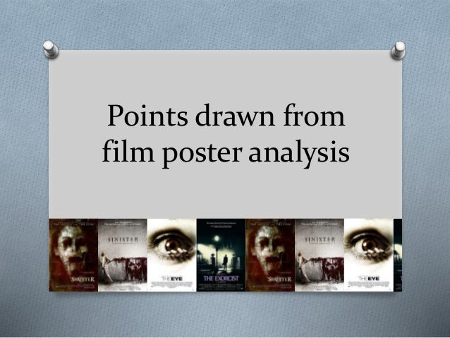 Points drawn from film poster analysis