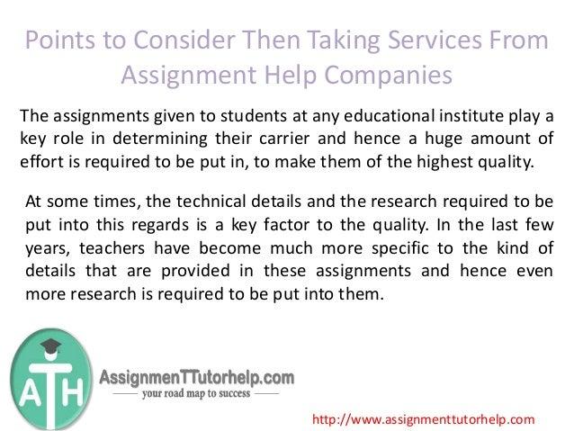 Online assignment help companies