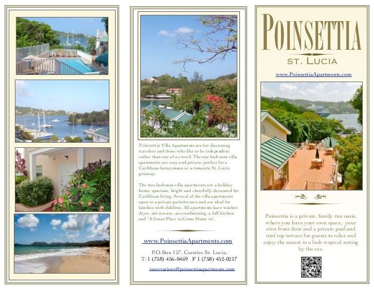 POINSETTIAST. LUCIA                                                           www.PoinsettiaApartments.comPoinsettia Villa...