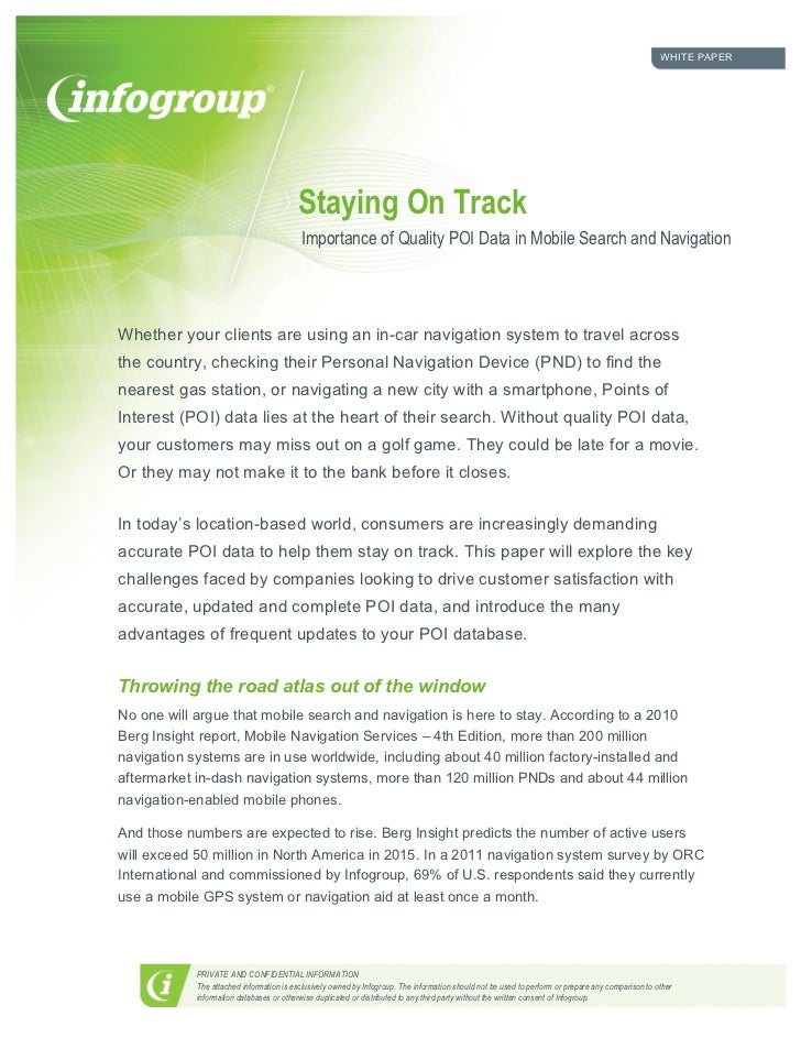 WHITE PAPER                                         Staying On Track                                          Importance o...