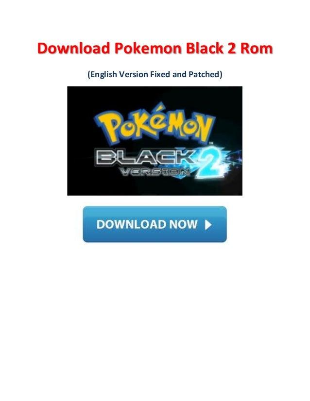 Pokemon Black 2 English Direct Download