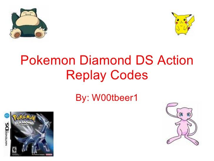 Action Replay Cheats For Pokemon Diamond