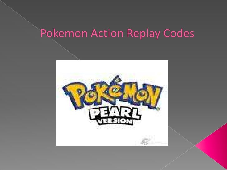 Pokemon action replay codes