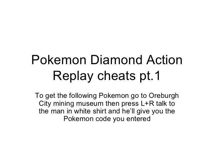 Pokemon Diamond Action Replay Cheats Pt. 1